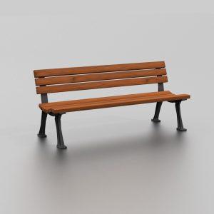 Banc FIDJI proposé par le groupe Ingénia expert du mobilier urbain