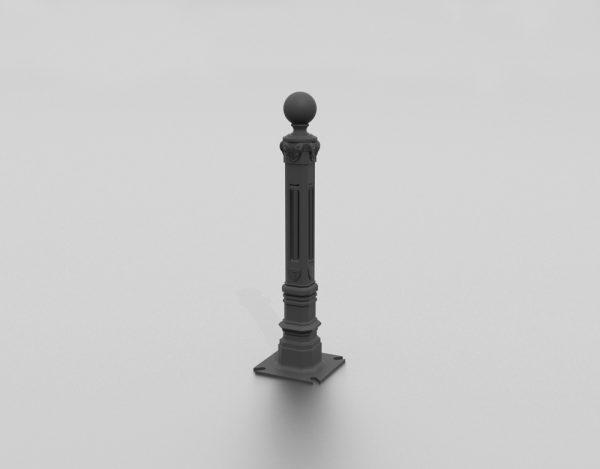 Borne Place du Midi proposée par le groupe Ingénia expert du mobilier urbain