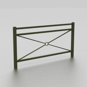 Barrière BRAZZAVILLE proposée par le groupe Ingénia expert du mobilier urbain