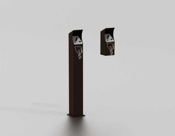 Cendrier proposé par le groupe Ingénia expert du mobilier urbain