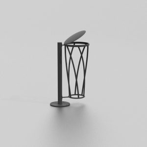 Corbeille ELIPSE proposée par le groupe Ingénia expert mobilier urbain