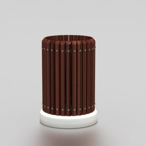 Corbeille LOCHERE proposée par le groupe Ingénia expert du mobilier urbain