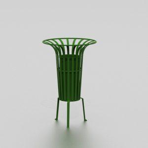 Corbeille TULIPE petite proposée par le groupe Ingénia expert mobilier urbain