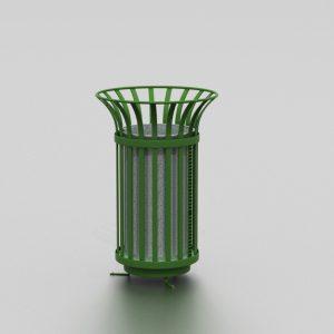 Corbeille TULIPE (grande) proposée par le groupe Ingénia expert du mobilier urbain