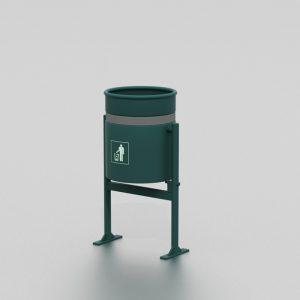 Corbeille à seau basculant proposée par le groupe Ingénia expert mobilier urbain