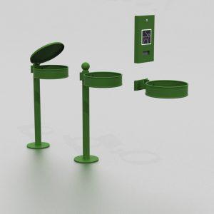 Corbeille Vigipirate proposée par le groupe Ingénia expert mobilier urbain