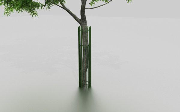 Corset d'arbre ROMARIN proposé par le groupe Ingénia expert du mobilier urbain