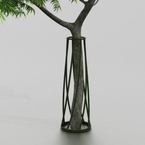 Corset d'arbre SAUGE proposé par le groupe Ingénia expert du mobilier urbain