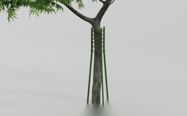 Corset d'arbres THYM proposé par le groupe Ingénia expert du mobilier urbain